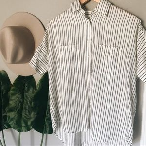 Madewell Striped Oversized Button Up Shirt